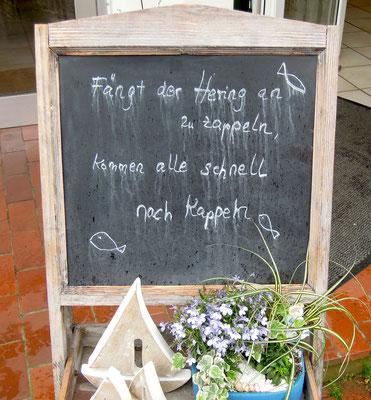 Willkommen zu den Kappelner Heringstagen. Foto: C. Schumann
