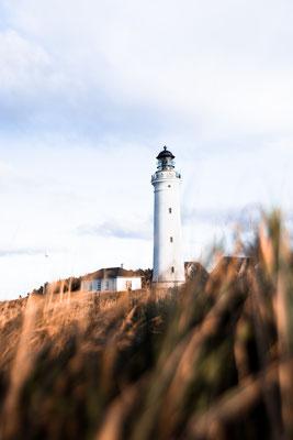 Das Wahrzeichen von Hirtshals ist der Leuchtturm. Foto: PR/VisitDenmark/Robin Skjoldborg