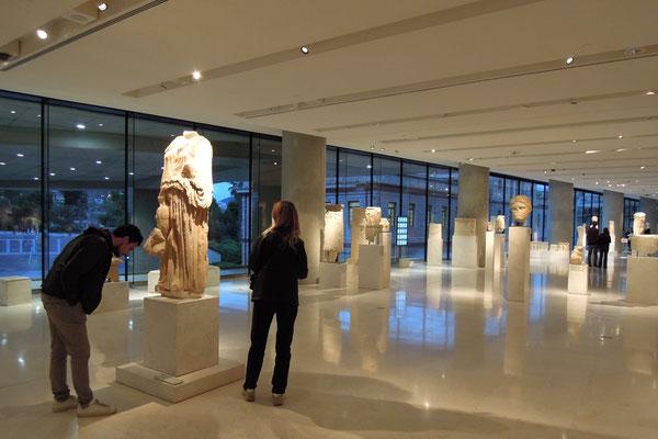Im Akropolis-Museum sind u.a. Ausgrabungen und Funde 156 m hohen Götterfelsen ausgestellt. Foto: Christoph Schumann, 2020