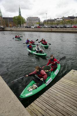 Saisonauftakt der Greenkayaks in Kopenhagen. Foto: Greenkayak/PR