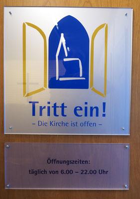 Für alle offen - die Flughafenkapelle in Hamburg. Foto: C. Schumann, 2019