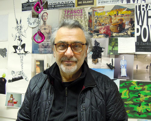 Bildhauer und Rektor Nikos Tranos der Athens School of Fine Arts. Foto: Christoph Schumann, 2020