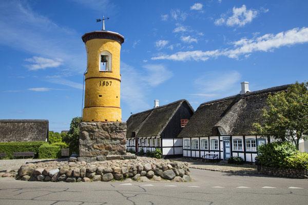 Historischer Glockenturm im Dorf Nordby auf Samsø. Copyright: Jeanette Philipsen/VisitSamso.