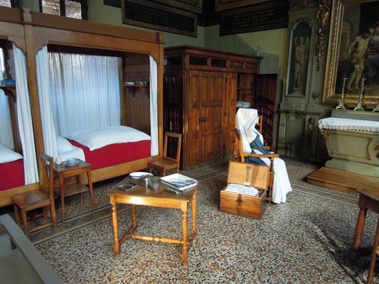 Ein Krankenzimmer im Hospiz in Beaune. Foto: C. Schumann, 2019
