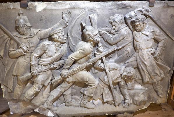 Relieftafel aus dem Siegesdenkmal, das die Preußen in Dybbøl errichteten. Foto: C. Schumann, 2020
