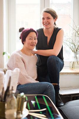 """Die beiden Initiatorinnen des """"In guter Gesellschaft"""": Ina Choi-Nathan (vorn) und Alana Zubritz. Foto: In guter Gesellschaft/privat"""