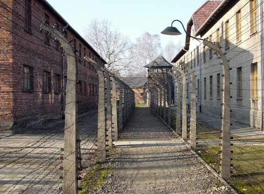 Die doppelte Umzäunung von Auschwitz I wurde für viele zur Todesfalle. Foto: C. Schumann, 2020