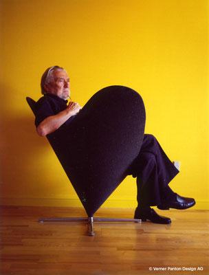 """Der """"Herzstuhl"""" (Hjertestolen) zählt zu Pantons ungewöhnlichsten Objekten. Foto: Verner Panton Design AG"""