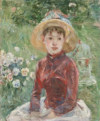 Berthe Morisot: Mädchen auf der Wiese (Isabelle Lambert). Ordrupgaard, Kopenhagen. Copyright Foto: Anders Sune Berg/PR