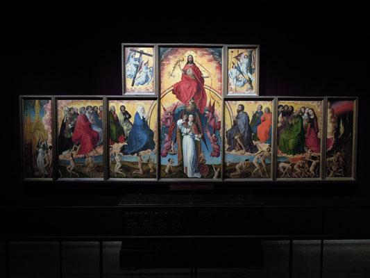 Der  Flügelaltar von Rogier van der Weyden steht im Hospiz-Museum. Foto: C. Schumann, 2019