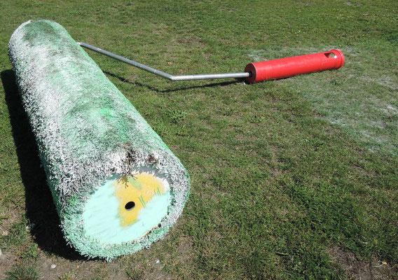 """Der drei Meter breite """"Green Roller"""" von Aida Gómez, Spanien. Foto: Christoph Schumann, 2020"""