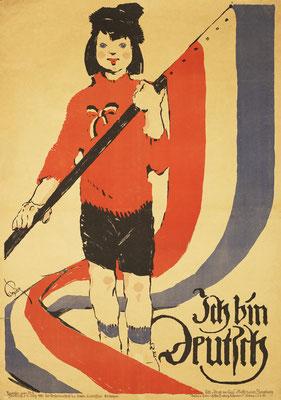 Wahlplakat der deutsch-gesinnten Einwohner von Schleswig für die Volksabstimmung 1920. Foto: Museum Sønderjylland/PR
