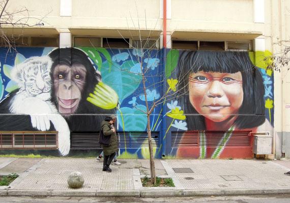 Streetart im Szene-Viertel Pagrati. Foto: Christoph Schumann, 2020