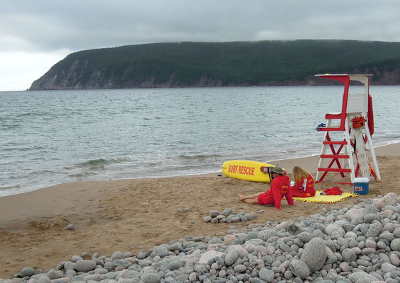 Lebensretter am Ingonish Beach am Cape Breton