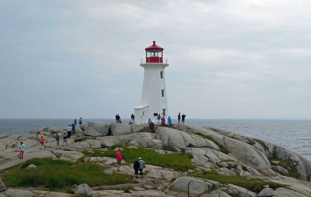 Eines der beliebtesten Fotomotive in Nova Scotia ist der Leuchtturm in Peggy's Cove