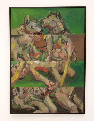 """Aus der Ausstellung: Georg Baselitz: """"Vier Streifen"""", 1966. Foto: Chr. Schumann"""