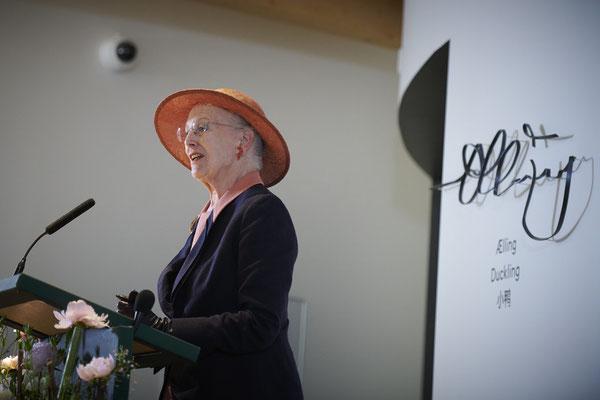 Dänemarks Königin Margrethe II. bei der Eröffnung des Hans-Christian-Andersen-Hauses im Juni 2021. Foto: Ard Jongsma/PR/HCAHus