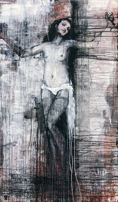 """Kreuz Nr.4"" | Acryl auf Sperrholz | 112x192cm"