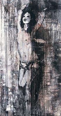 """Kreuz Nr.2"" | Acryl auf Sperrholz | 90x172cm"