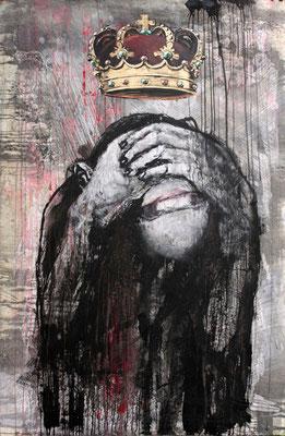 """KOTO | Serie ""Könige..."" | Affe | Acryl auf Sperrholz | 114x173cm"