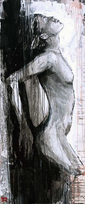 """Kreuz Nr.8"" | Acryl auf Sperrholz | 70x172cm"