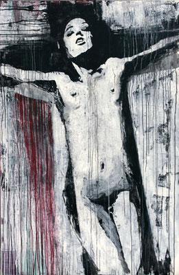 """Kreuz Nr.7"" | Acryl auf Sperrholz | 110x172cm"
