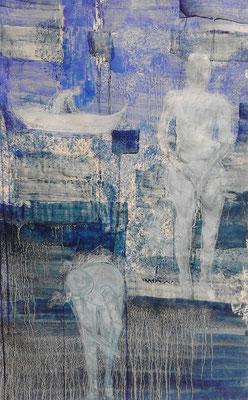 Serie azul  Mischtechnik auf Papier 100x70 cm