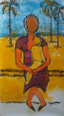 Mulher I (Homenagem a Lasar Segall) 150 x 80 cm