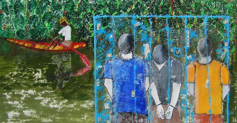 Anapu (Die Ermordung der Schwester Dorothy Stang bei Anapu) 140 x 270 cm