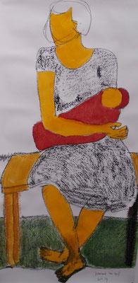 Frau III 150 x 70 cm