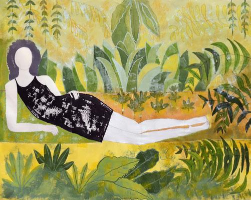 A natural woman  Mischtechnik auf Leinwand  130 x 160 cm