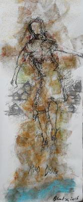 Rio Doce  Mischtechnik auf Papier  100 x 90 cm