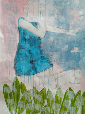 Frau.Natur.Kunst  Mischtechnik auf Papier  140 x 100cm