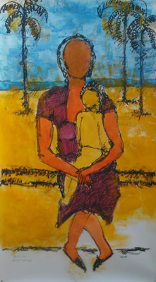 Frau I (Hommage an Lasar Segall) 150 x 80 cm