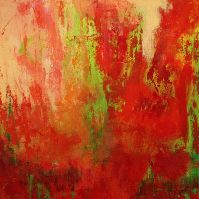 Kommt Sommer, Acryl auf Leinwand, 80 x 80 cm, susanna Schürch 2015, Fr.700.-