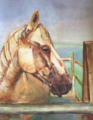 Django, Acryl auf Papier, 50 x 64 cm, Susanna Schürch 2015, Fr. 400.-