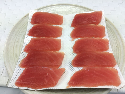 Super Frozen Yellowfin Tuna Sushi Slice