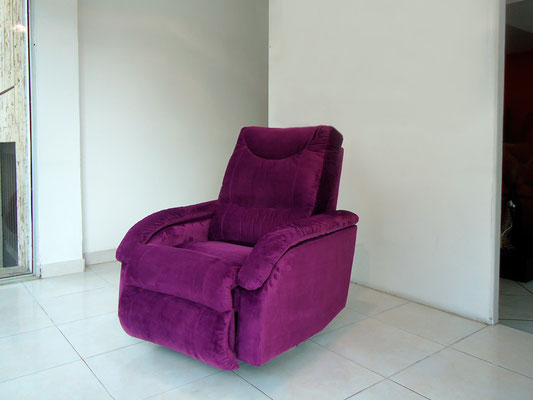 Reclinable en Tela Microfibra color Morado