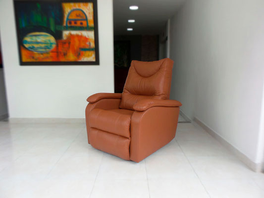 Silla reclinable fabricada en Cuero 100% Natural