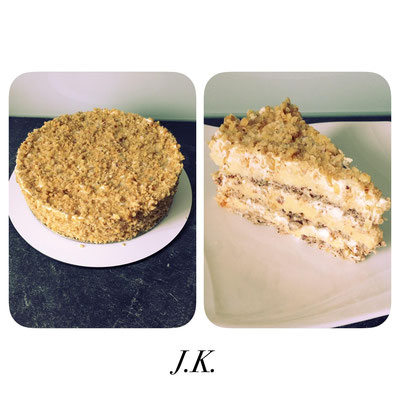 Knusperige Torte