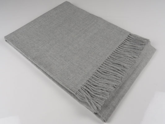 Baby Alpaka Decke Premium, Hellgrau
