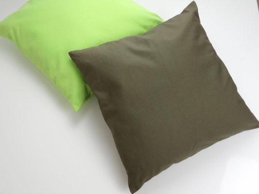 Kissenbezug Baumwolle, Olive