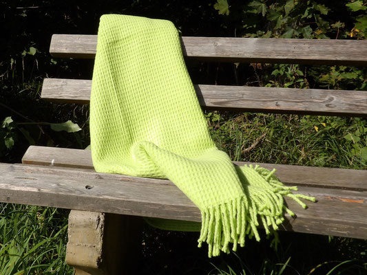 Baumwolldecke Nizza,  Grün