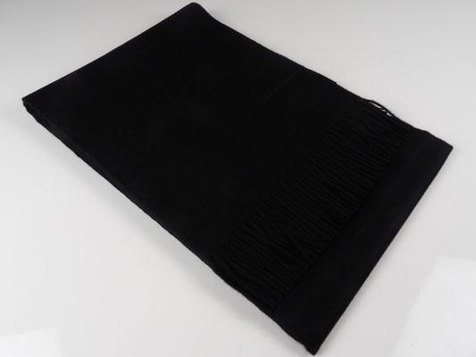 Baby Alpaka Decke Premium, Schwarz