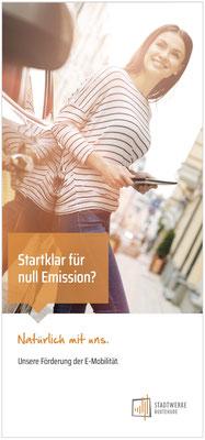 Flyer-Titel E-Mobilitätsförderung