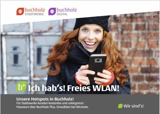 Gemeinsames Plakat Buchholz Stadtwerke und Buchholz Digital