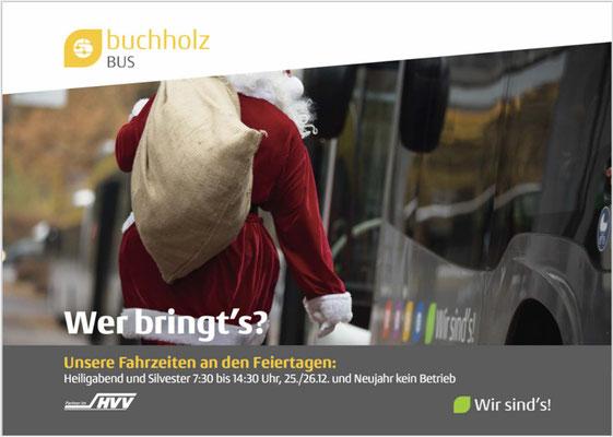 Buchholz Bus Kommunikation Sonderfahrzeiten.