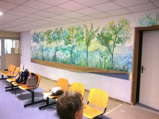 Sala d'attesa e accettazione.