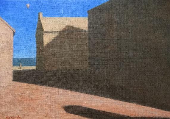"""Akitoshi YAMADA """"Montgolfière"""" 19 cm x 27 cm acrylique sur toile 180 €"""
