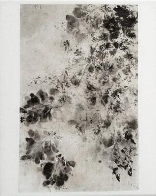 """Elisabeth POIRET """"Sans titre 4"""" 30 cm x 24 cm technique mixte sur toile 250 €"""